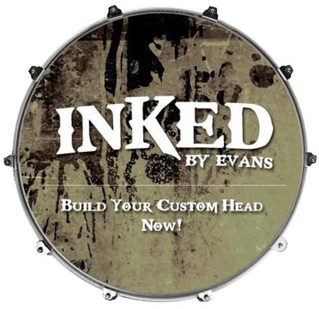 evans inked custom bass drum head gift card. Black Bedroom Furniture Sets. Home Design Ideas