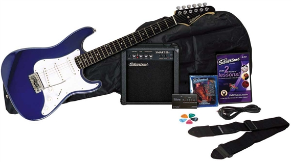 silvertone guitars ss11 electric guitar and amp package. Black Bedroom Furniture Sets. Home Design Ideas