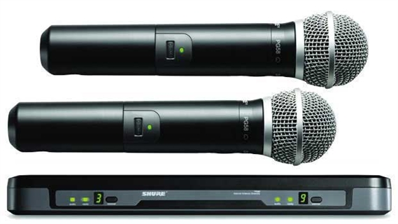shure performance gear dual channel handheld wireless pg58 mic system. Black Bedroom Furniture Sets. Home Design Ideas
