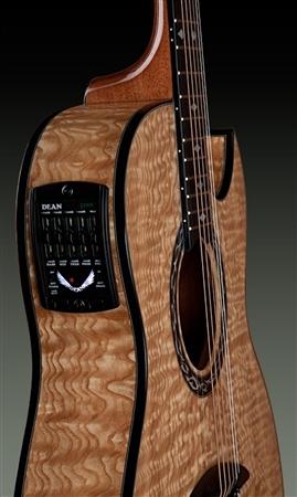 dean exhibition quilt ash acoustic electric guitar with aphex. Black Bedroom Furniture Sets. Home Design Ideas