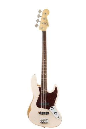 Fender Flea Jazz Bass Roadworn Shell Pink with Deluxe Gig Bag
