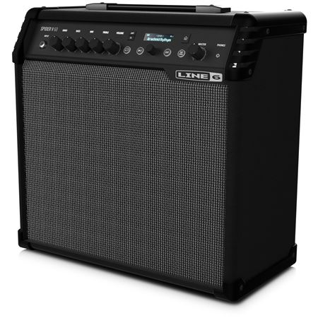 Line 6 Spider V60 Electric Guitar Combo Amplifier 1x10 60