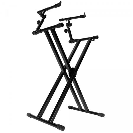 On Stage Ks7292 Double X Ergo Lok Keyboard Stand With 2nd Tier