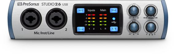 PreSonus Studio 26 2 in 4 out USB 2 24bit 192 kHz Audio Interface