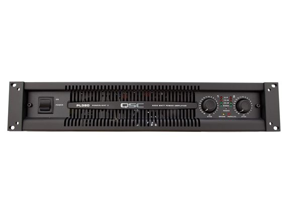 QSC PL380 2500 Watt Two Channel PowerLight 3 Power Amplifier