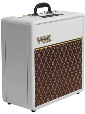 vox ac4 electric guitar amplifier combo 4 watts limited white bronco. Black Bedroom Furniture Sets. Home Design Ideas