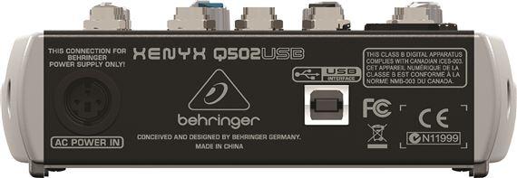 Behringer Xenyx Q502USB USB Audio Mixer. Images; Videos