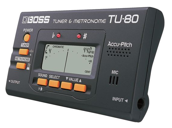 boss tu80 chromatic guitar tuner with metronome. Black Bedroom Furniture Sets. Home Design Ideas
