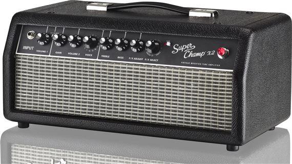 fender super champ x2 15 watt tube guitar amplifier head. Black Bedroom Furniture Sets. Home Design Ideas