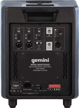Gemini Wrx 900togo Portable Line Array Speaker System