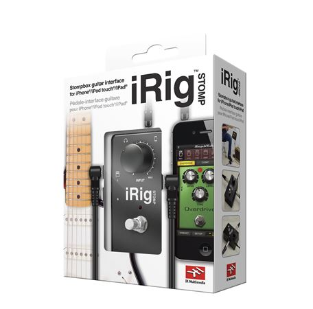 ik multimedia irig stomp stompbox guitar interface for ios devices. Black Bedroom Furniture Sets. Home Design Ideas