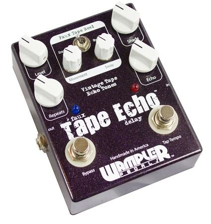 wampler faux tape echo with tap tempo delay guitar effects pedal. Black Bedroom Furniture Sets. Home Design Ideas