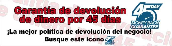 45-Días de Garantía de Devolución de Dinero