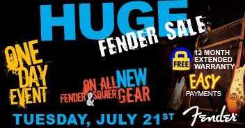 fender sale tuesday july 21st