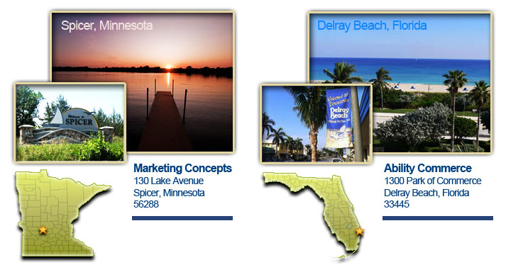 Ability Commerce and Marketing Concepts Locations