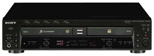 Sony RCDW500C CD Recorder and 5 Disc Player