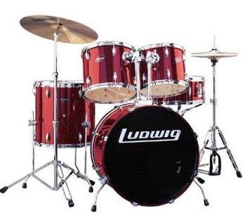 Ludwig LC125 Accent CS Combo Power 5 Piece Drum Set