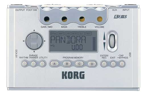 Korg PX5D Pandora Guitar and Bass Multieffects Processor