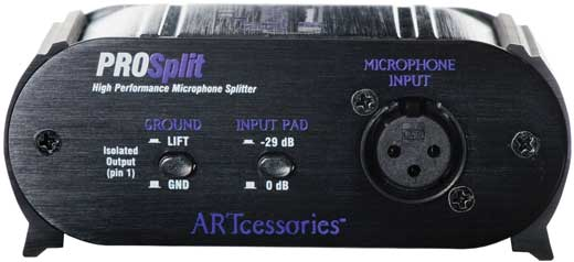 ART Prosplit 2-Way Microphone Splitter