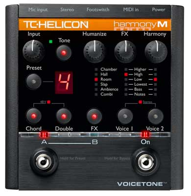 TC Helicon VoiceTone HarmonyM Vocal Multieffects Pedal