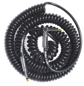 Bullet Cable Coiled Right Angle Guitar Instrument Cable