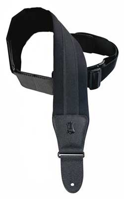 Levys PM48NP3 3 Inch Neoprene Padded Guitar Strap with Leather Ends