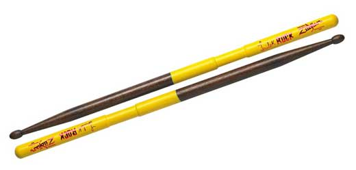 Zildjian Trilok Rock Yellow Dip Drum Sticks