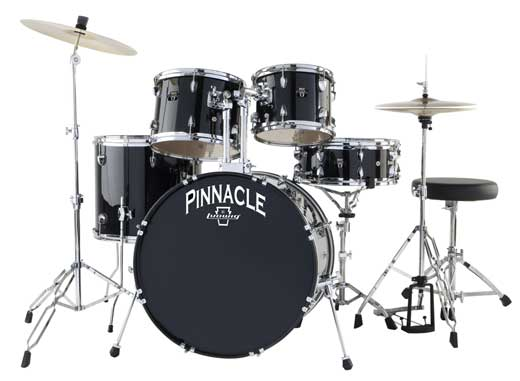 Ludwig Pinnacle Complete 5 Piece Drum Set