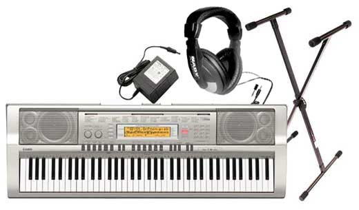 Casio WK200 76 Key Personal Keyboard Package