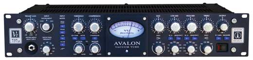 Avalon VT737SP Class A Tube Channel Strip