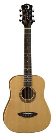 Luna Muse Safari 3/4 Size Acoustic Guitar with Bag