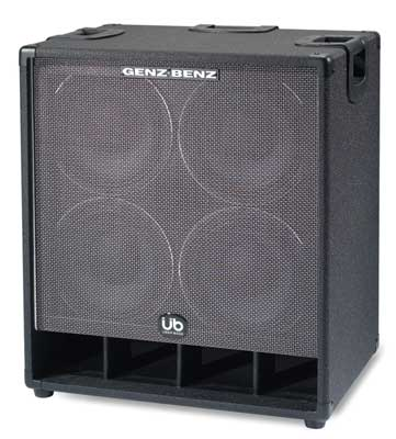 Genz Benz GB410TUB4 Uber Bass Guitar Amplifier Cabinet