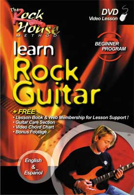 Rock House Guitar Lesson DVD Learn Rock Guitar Beginner
