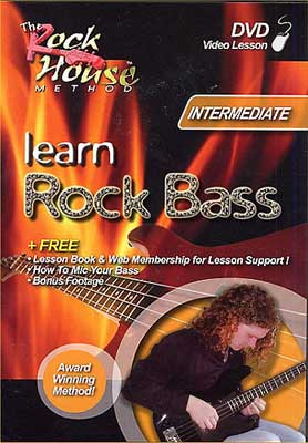 Rock House Guitar Lesson DVD Learn Rock Bass Guitar Interm