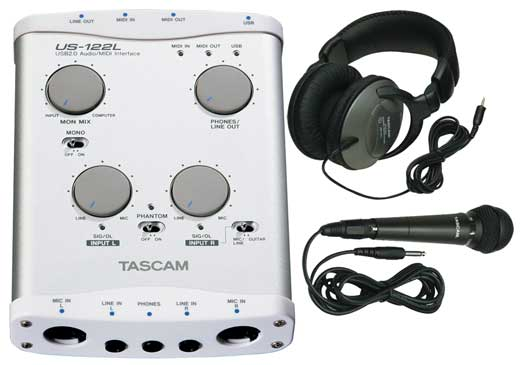 Tascam US122L USB 2.0 Audio and MIDI Interface