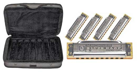 Hohner Case of Blues 5 Harmonica Package with Case