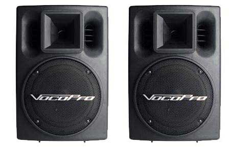 VocoPro PV802 Powered Vocal Speakers