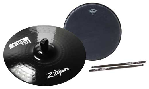 Zildjian ZPB Pitch Black Splash Cymbal Package 1