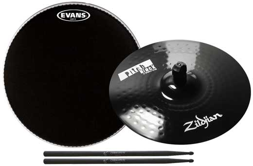 Zildjian ZPB Pitch Black Splash Cymbal Package 4