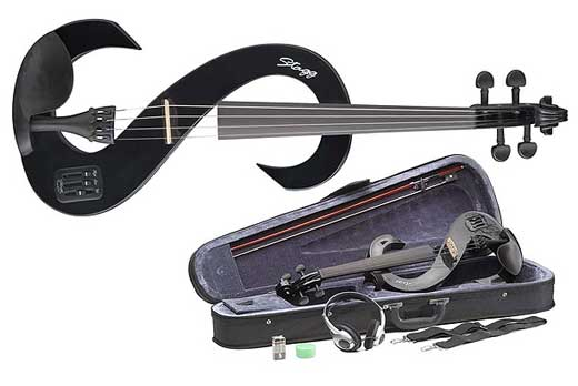 Stagg EVN 44 Electric Violin Package with Case