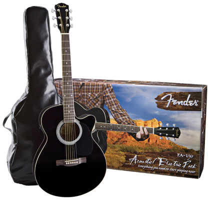 Fender FA130 Acoustic Electric Guitar Package