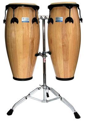 Rhythm Tech Eclipse Wood Conga Set with Stand