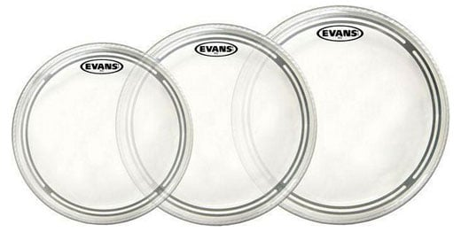 Evans EC2S Clear Rock Tom Drum Head Pack EVA ETPEC2SCLRR