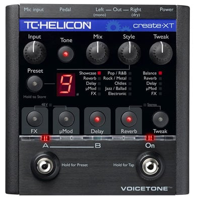 TC Helicon Voicetone Create XT Vocal Processor Pedal