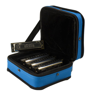 Hohner Blues Rocker 4 Harmonica Pack with Case