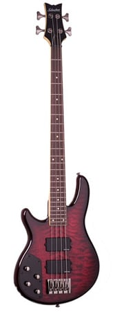 Schecter Raiden Elite 4 Left Handed Electric Bass Guitar