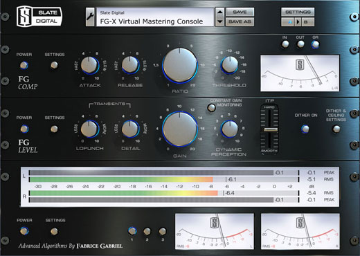 Slate Digital FGX FGX Virtual Mastering Processor Software