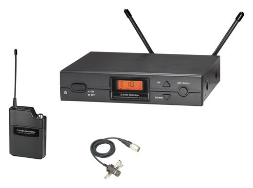 Audio Technica ATW2129A UHF Lapel Wireless Microphone System