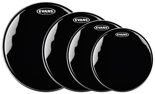 Evans Hydraulic Black Tom Heads Package