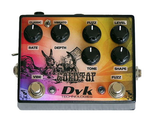 DVK Technologies GoldTop Fuzz Vibe Guitar Effects Pedal